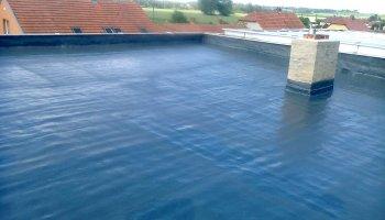 Tepelná izolace ahydroizolace ploché střechy Ladná