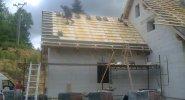 Tepelná izolace šikmé střechy shora do záklopu v Opatovice