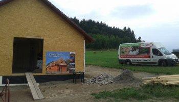 Tepelná izolace obvodových stěn astropu dřevostavby vOznice