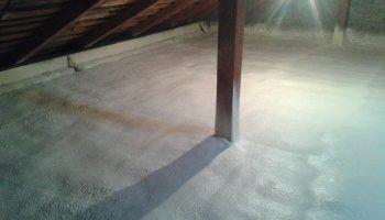 Zateplení podlahy půdních prostor v Rataje (Těšetice)